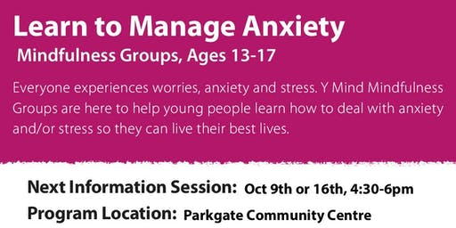 Teen Mindfulness Group- Information Session