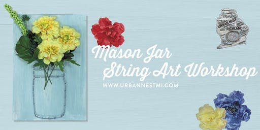 Fall Mason Jar String Art Workshop