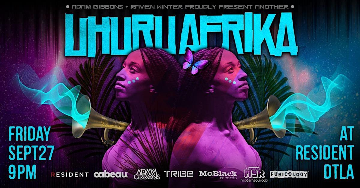 UHURU AFRIKA dance party.