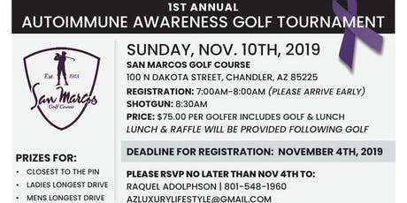 1st Annual Auto Immune Awareness Tournament (Scramble) tickets