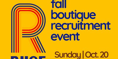 10th RIISE Fall Boutique Recruitment Event