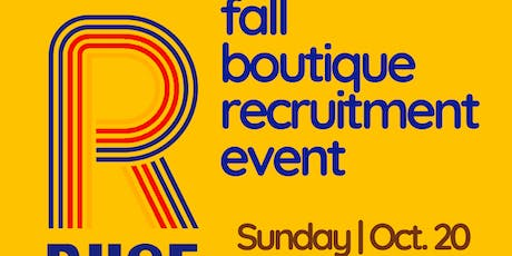 10th RIISE Fall Boutique Recruitment Event tickets