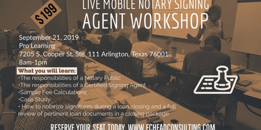 Live Mobile Notary Signing Agent Workshop I