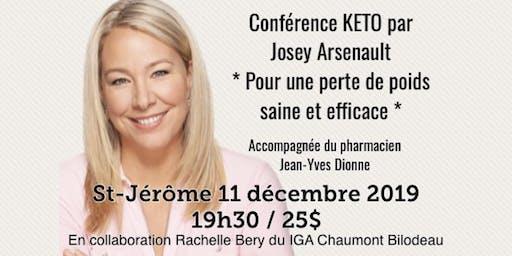 ST-JÉRÔME - Conférence KETO - Pour une perte de poids saine et efficace!