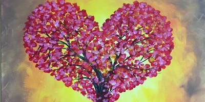 "POP UP TALK THERAPY at  PAINTING WITH A TWIST EVENT- Theme ""Healing Hearts"""