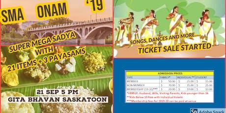 SMA ONAM 2019 tickets