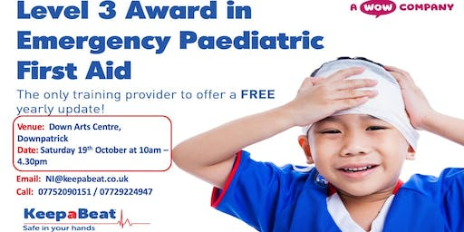 Downpatrick Level 3 Award in Emergency Paediatric First Aid (6 Hours)