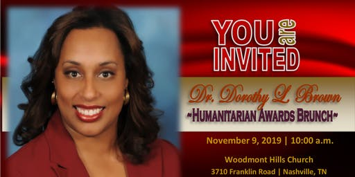 2019-Dr. Dorothy Brown Humanitarian Awards Brunch, Sat. Nov 9, 2019
