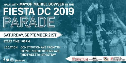 Walk with Mayor Muriel Bowser in the 2019 Fiesta DC Parade
