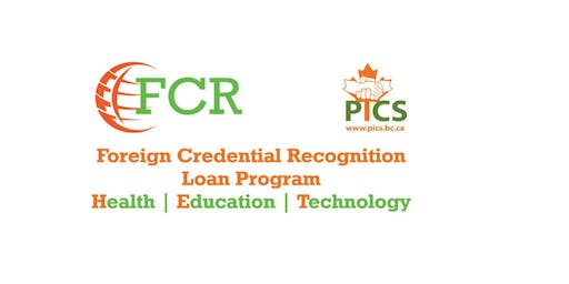 PICS - FCR Loan Program Information Session for Health Sector (ITPs)