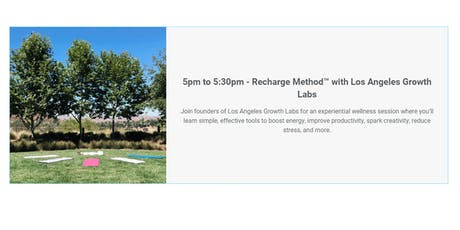 Recharge Method™ with Los Angeles Growth Labs tickets