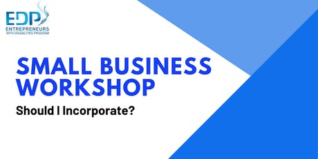 Small Business - Should I incorporate? tickets