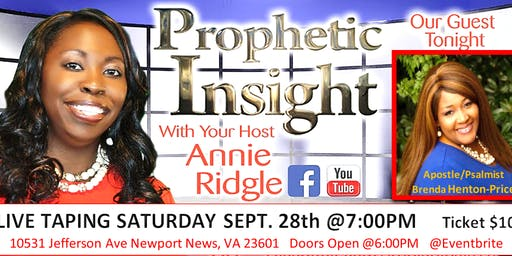 FREE PROPHETIC INSIGHT SHOW LIVE TAPING