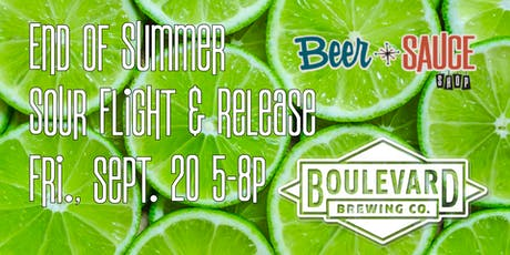 Boulevard End of Summer Sour Flight & Release tickets