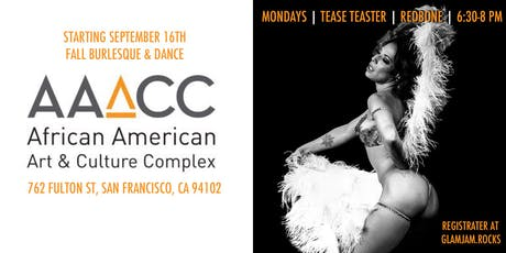 Tease Tester! with RedBone :: Fall Burlesque & Dance at AAACC tickets