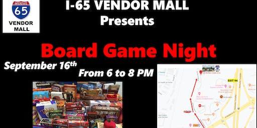 Game Board Night at I-65 Vendor Mall