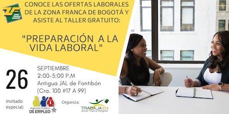 """TALLER """"PREPARACIÓN  A LA VIDA LABORAL""""   entradas"""