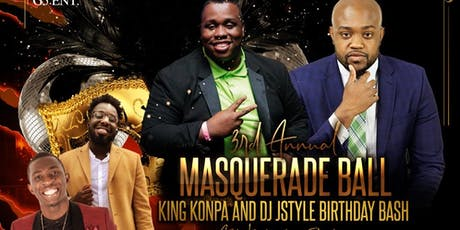 3rd annual Masquerade Ball KingKonpa and Dj Style Birthday bash tickets
