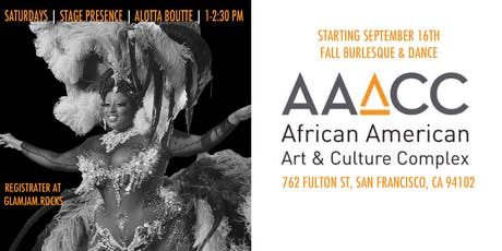 Alotta Boutté Stage Presence :: Fall Burlesque & Dance at AAACC tickets