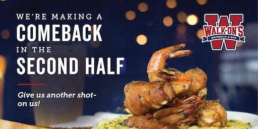 Huebner Oaks - Walk-On's San Antonio - Free Dinner
