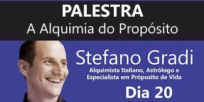 PALESTRA ALQUIMIA PARA O PROPÓSITO COM O ALQUIMISTA ITALIANO STEFANO GRADI