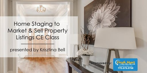 3-HR CE Class - Home Staging To Market & Sell Property Listings