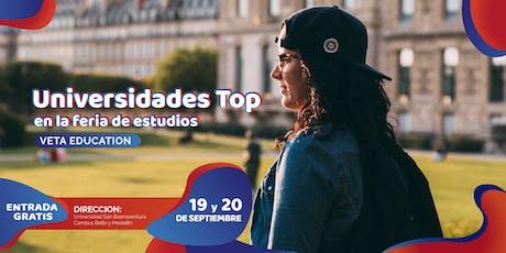 Universidades top en la Feria de Estudios tickets