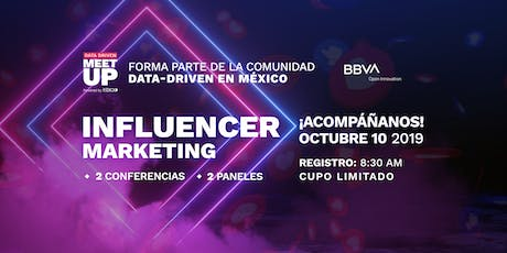 Data Driven Meet Up: Influencer Marketing boletos