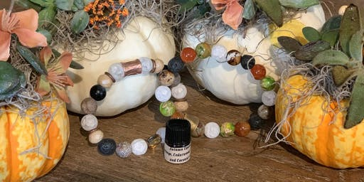 Aroma Gem Bracelet and Succulent Pumpkin