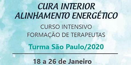 CURSO DE FORMAÇÃO DE TERAPEUTAS DE CURA INTERIOR ALINHAMENTO ENERGÉTICO ingressos