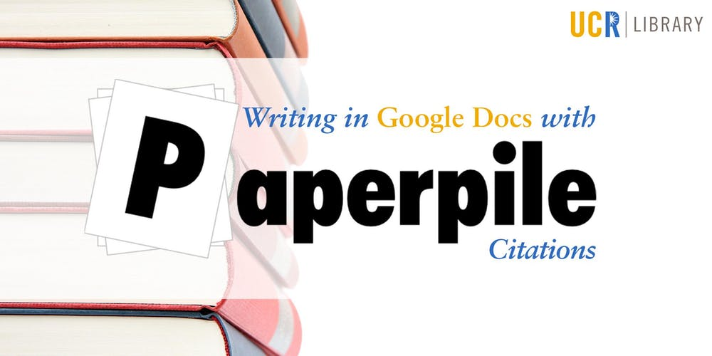 Writing In Google Docs With Paperpile Citations Tickets Wed