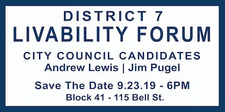 Seattle City Council D7 Candidate Livability Forum tickets