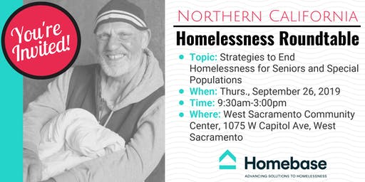 Northern California Homelessness Roundtable - September 26, 2019