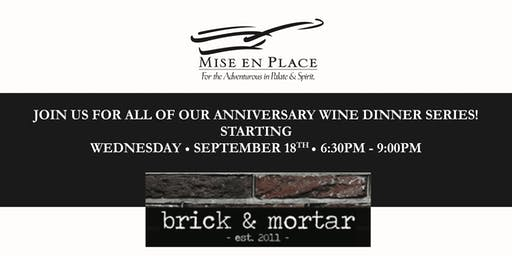 brick & mortar Wine Dinner event
