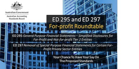 AASB ED 295 & ED 297: For-profit Roundtable, Melbourne tickets