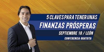 """Conferencia Gratuita """"5 Claves Para Tener Unas Finanzas Prósperas"""" en León"""