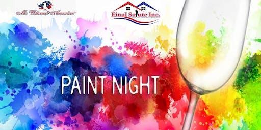 Paint Night for Homeless Women Veterans by Ms. Veteran America Finalist