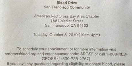 Red Cross-San Francisco Community Blood Drive-Tuesday, October 8, 2019 tickets