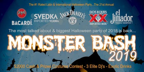 MONSTER BASH 2019 - Halloween Party tickets