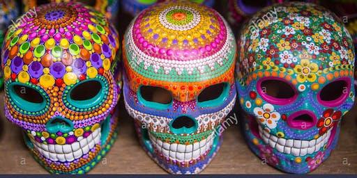 Dia De Los Muertos Ceramic Skull Paint Party
