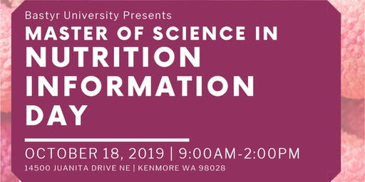 Master of Science in Nutrition Information Day