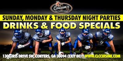 Sunday Night Football @ Coaxum's Low Country Cuisine