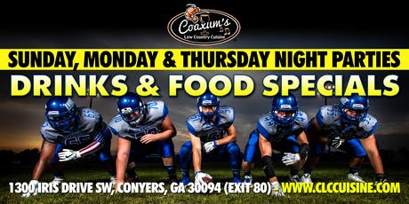 Sunday Night Football @ Coaxum's Low Country Cuisine tickets