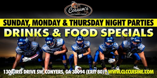 Sunday Night Football @ Coaxum's Low Country Cuisine