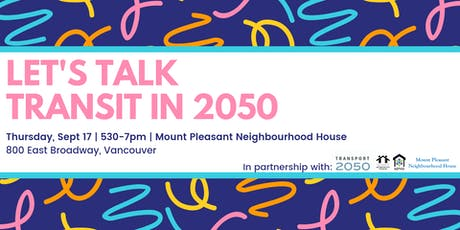 Let's Talk Transit in 2050 tickets