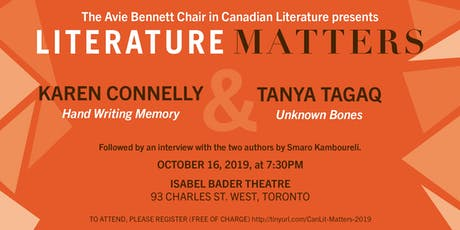 Literature Matters: Karen Connelly & Tanya Tagaq tickets