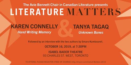 Literature Matters: Karen Connelly & Tanya Tagaq