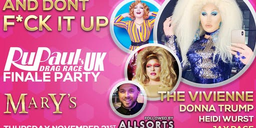 Drag Race UK Finale Viewing Party Special guests The Vivienne & Donna Trump