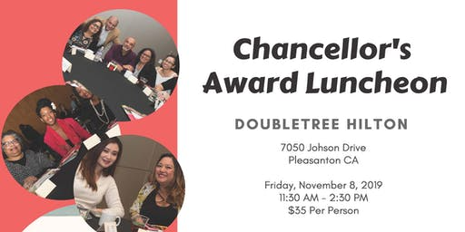 2019 Chancellor's Award Luncheon | November 8, 2019 | RSVP Now & Send $35 Payment to Chancellor's Office