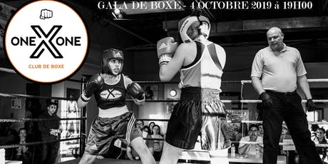 Gala de boxe - vendredi 4 octobre 19h00 tickets